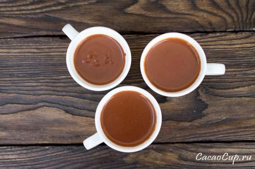 Горячий шоколад из какао тертого